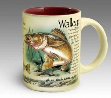 Stoneware Coffee Mug - Walleye