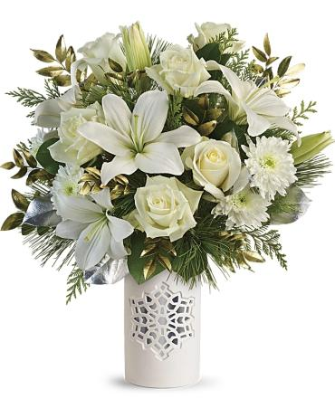Teleflora\'s White Snowflake Bouquet **SOLD OUT**