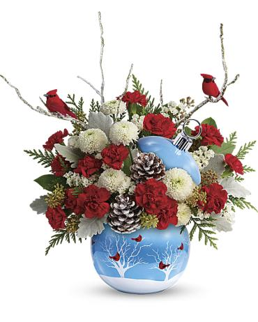 Teleflora\'s Cardinals In The Snow Ornament - SOLD OUT