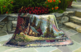 Peaceful Retreat Cotton Throw