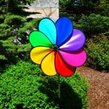 Rainbow Color Wind Spinner