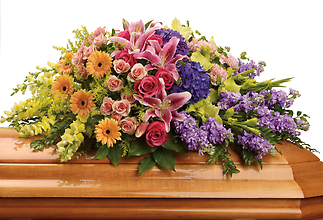 Garden of Sweet Memories Casket Spray