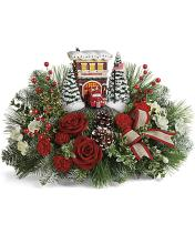 ** NEW PRICE** Thomas Kinkade\'s Festive Fire Station **ON SALE**