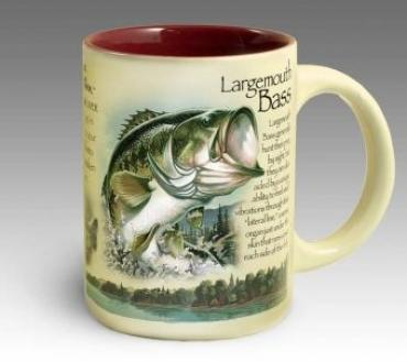 Stoneware Coffee Mug - Largemouth Bass