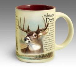 Stoneware Coffee Mug - Whitetail Deer
