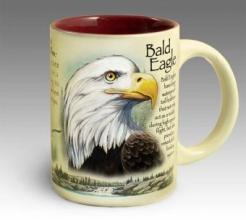 Stoneware Coffee Mug - Bald Eagle