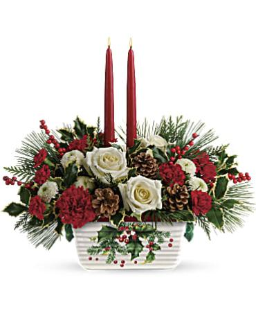 Teleflora\'s Halls Of Holly Centerpiece